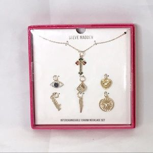 Steve Madden Interchangeable Charm Necklace Set